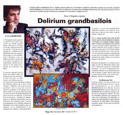 Article de presse-Journal Les Versants