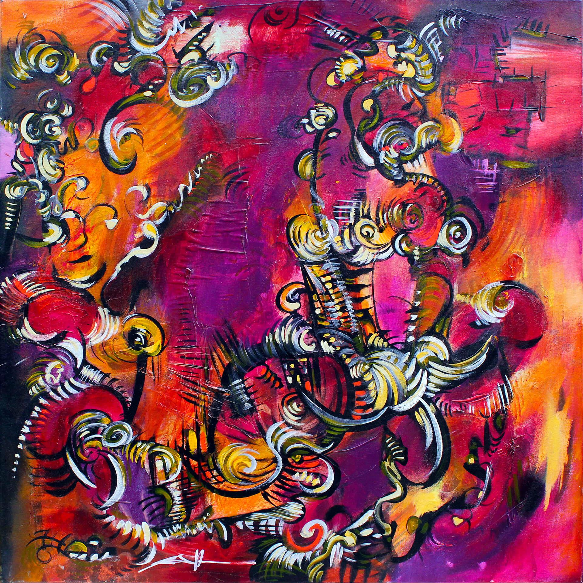 art-eric-j-hughes-artiste-peintre-canadien-tableau-delirium-danse-du-phoenix