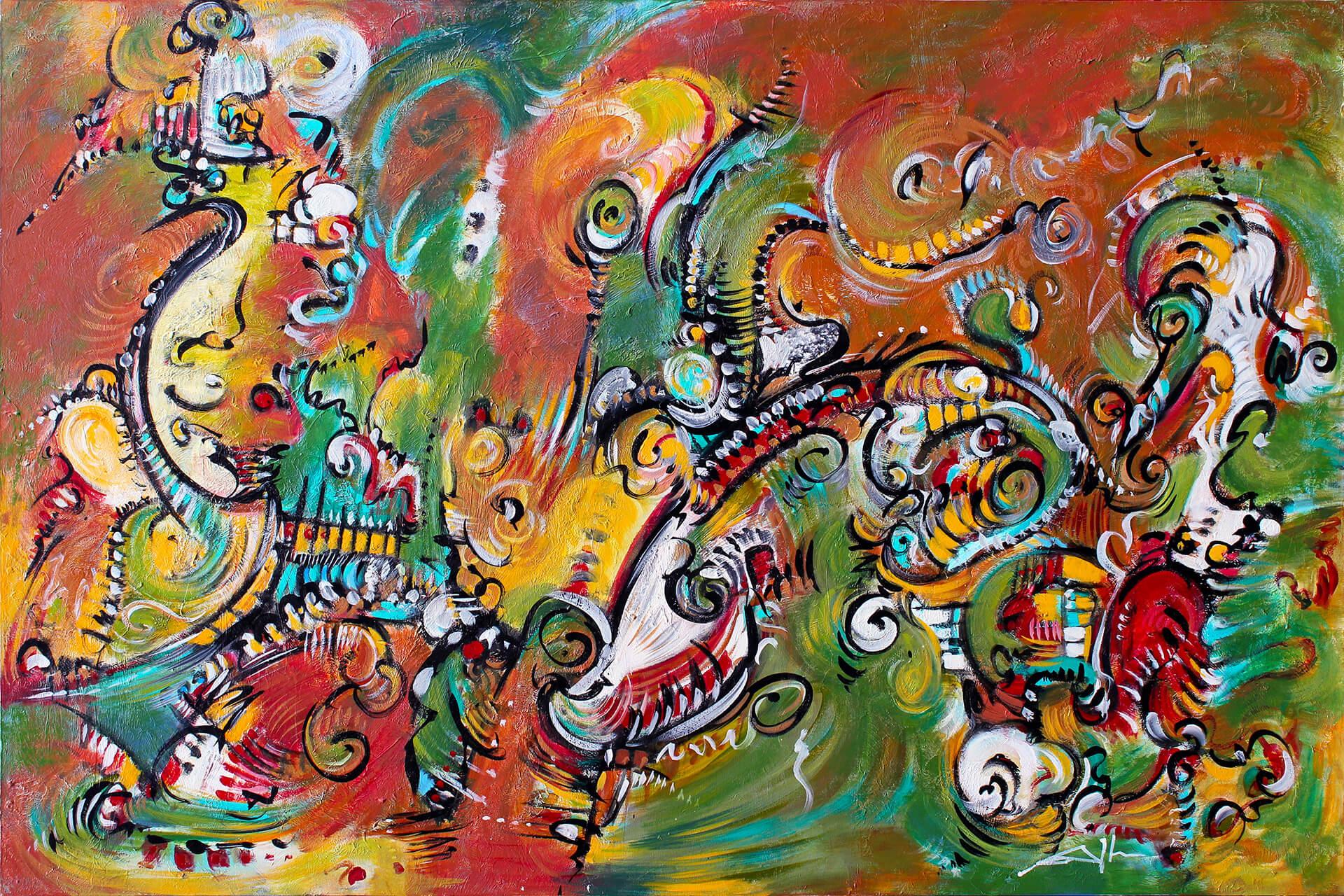 art-eric-j-hughes-artiste-peintre-canadien-tableau-delirium-esprit-errant
