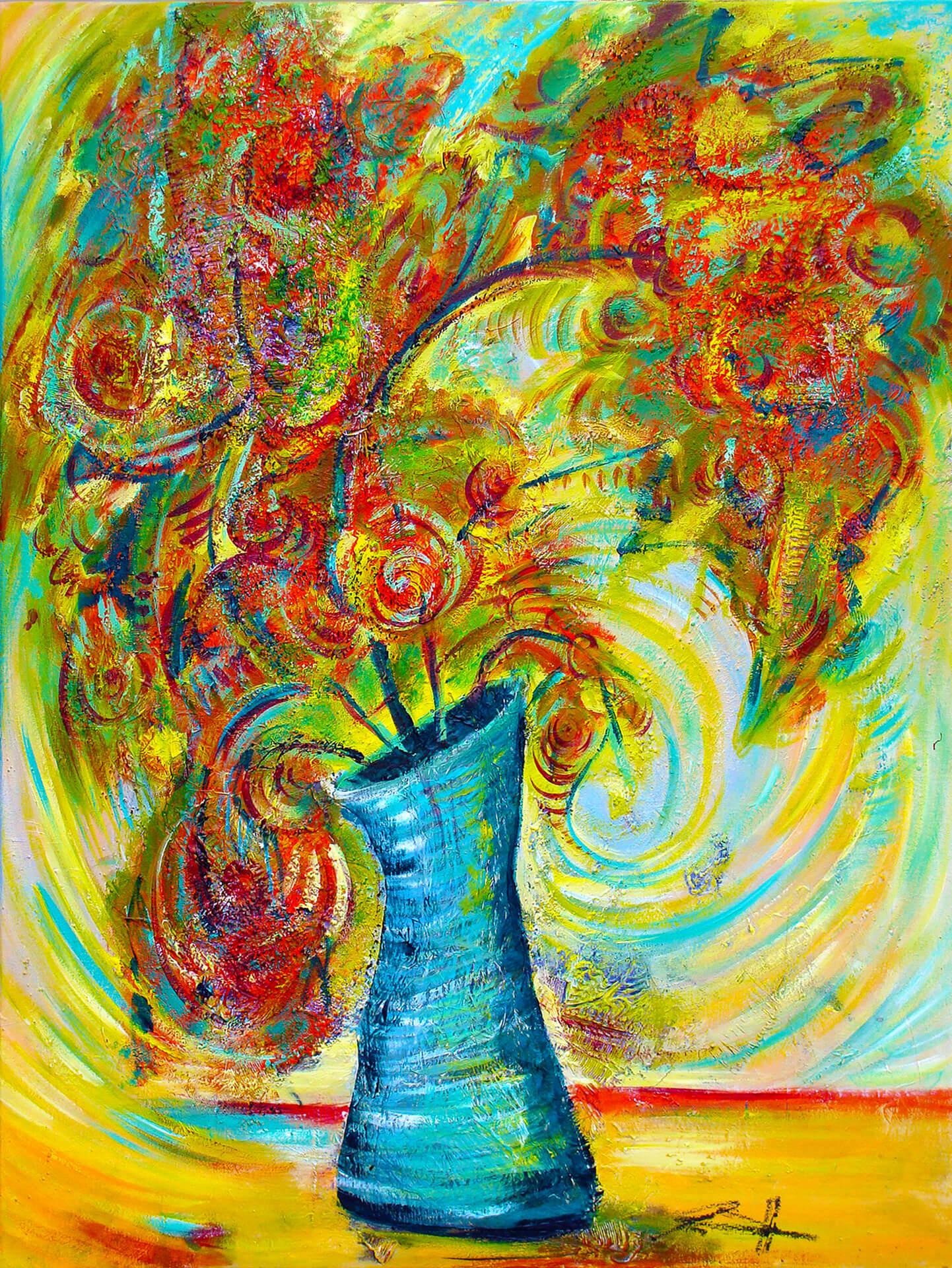art-eric-j-hughes-artiste-peintre-canadien-tableau-delirium-etrange-transformation-du-dragonnier-fleurissant