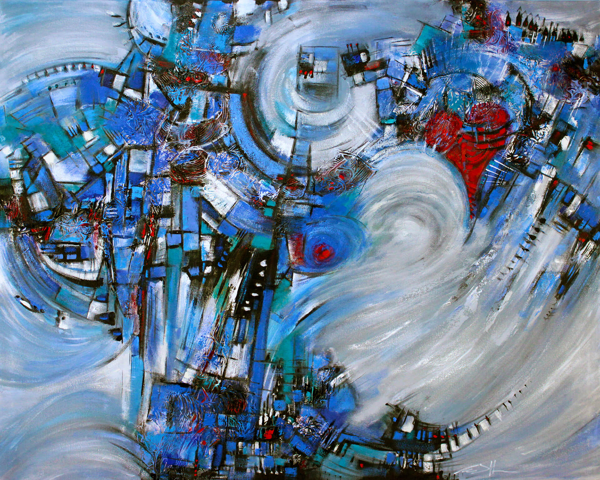 art-eric-j-hughes-artiste-peintre-canadien-tableau-symbiose-force-d-une-passion