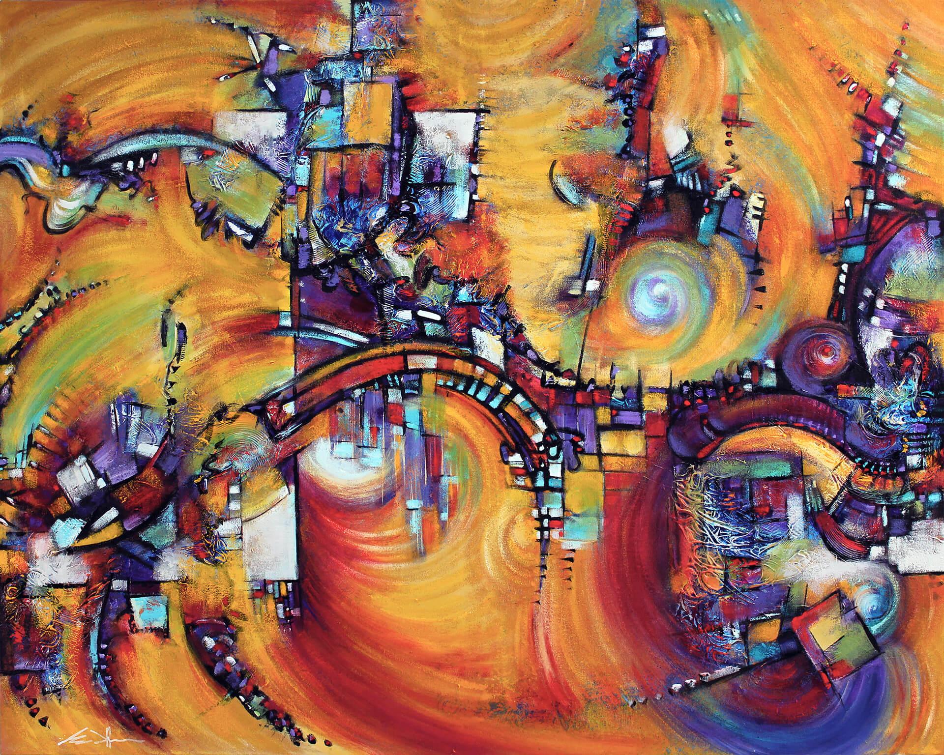 art-eric-j-hughes-artiste-peintre-canadien-tableau-symbiose-genesis