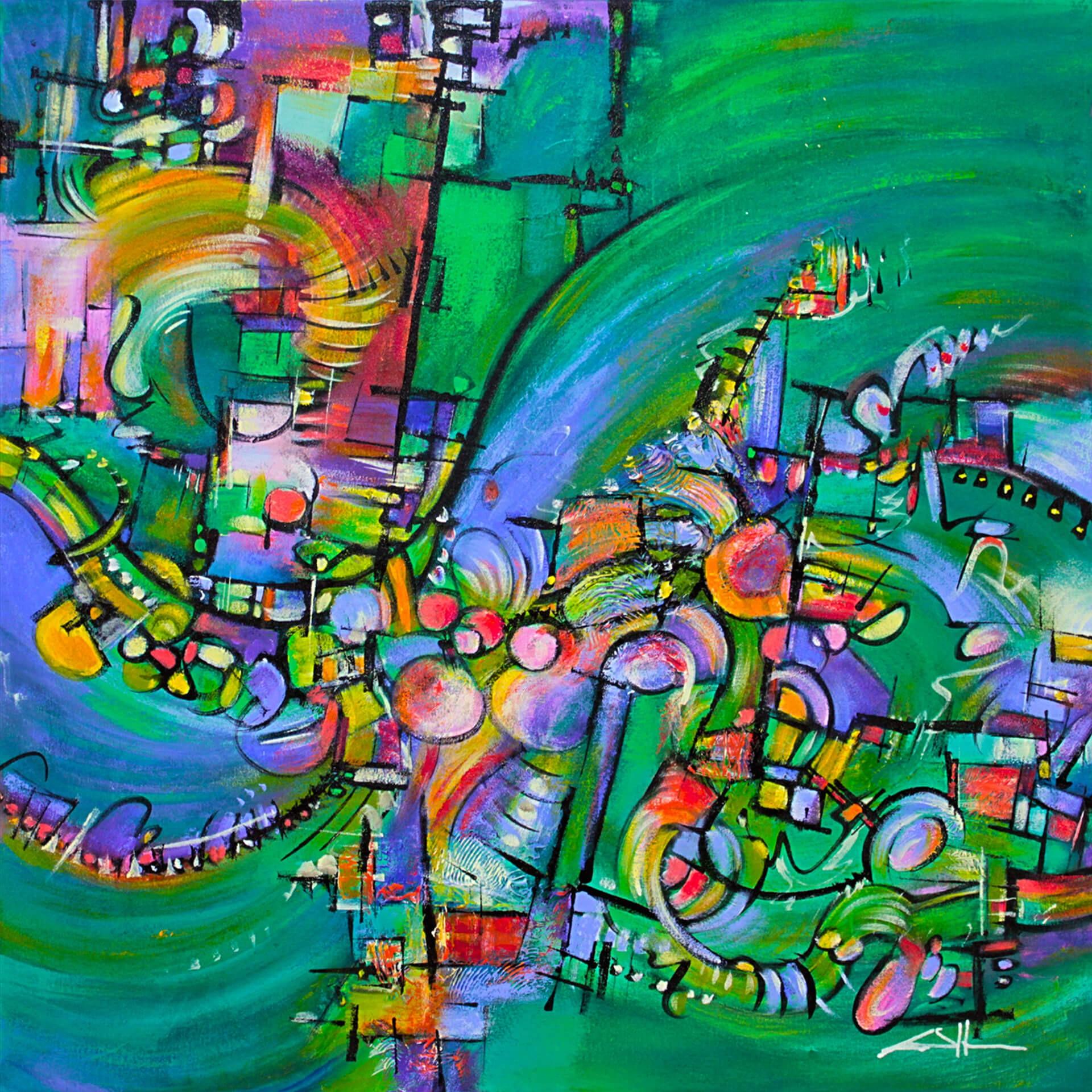 art-eric-j-hughes-artiste-peintre-canadien-tableau-symbiose-kamelemeraude-b
