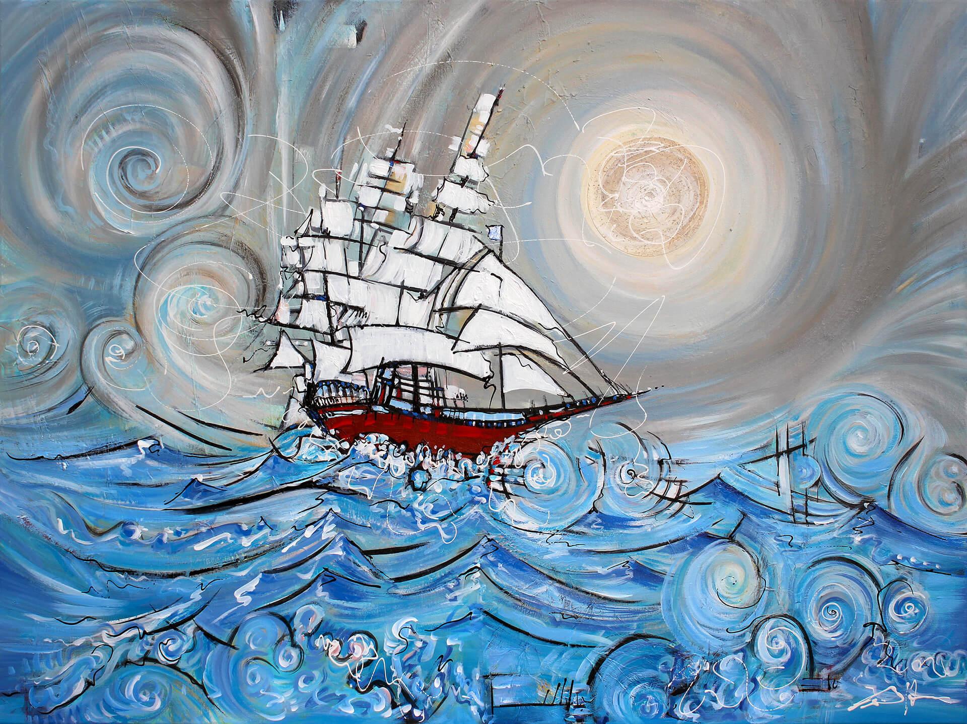 art-eric-j-hughes-artiste-peintre-canadien-tableau-symbiose-tumulte