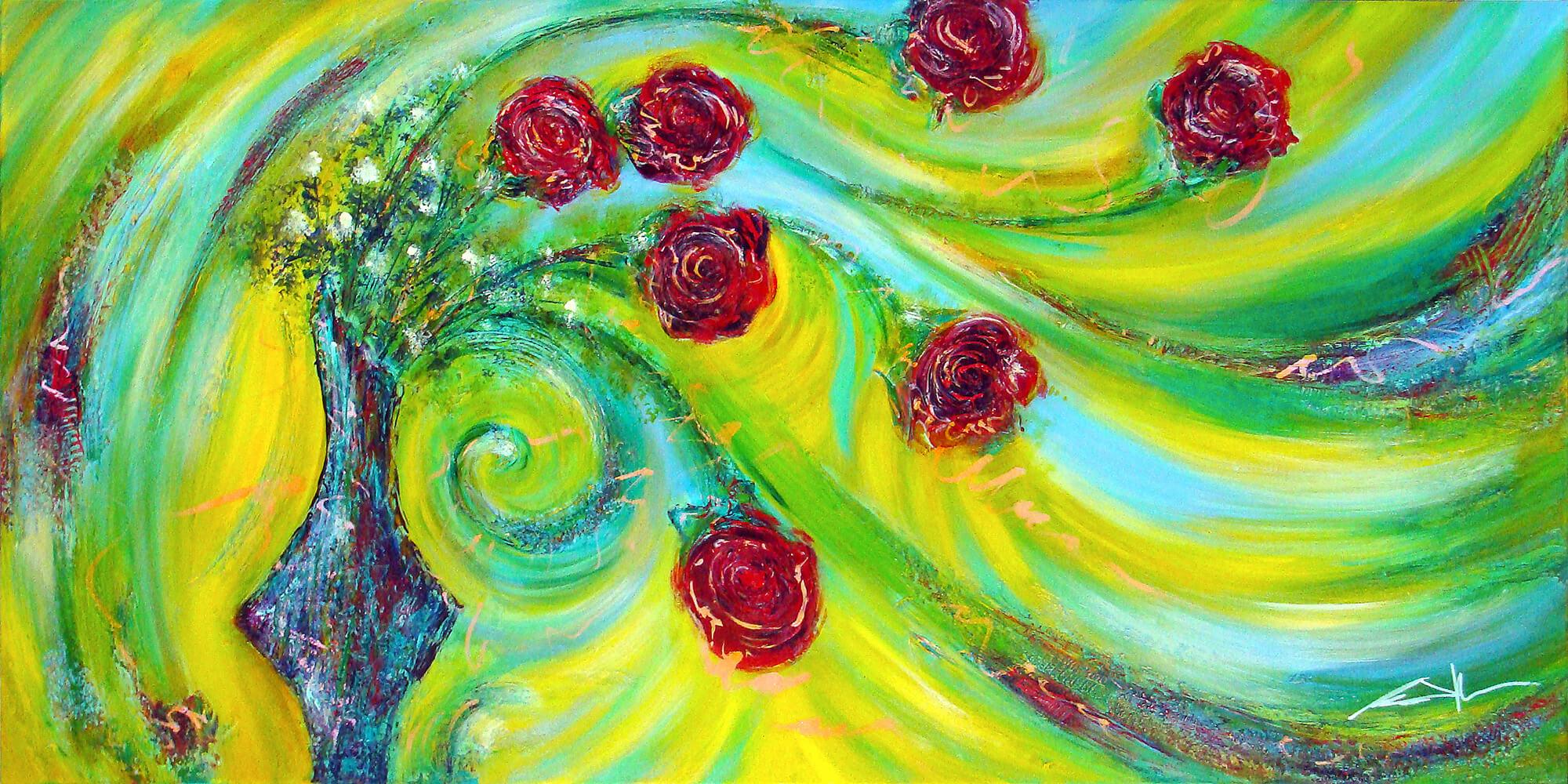 art-eric-j-hughes-peintre-tableau-folie-des-roses